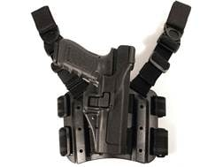 BLACKHAWK! Serpa Level 3 Tactical Thigh Holster Right Hand Sig Sauer 220, 226, 228, 229 Polymer B...