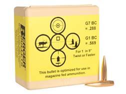 Berger Match AR Hybrid OTM Tactical Bullets 264 Caliber, 6.5mm (264 Diameter) 130 Grain Open Tip ...