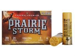"Federal Premium Prairie Storm Ammunition 20 Gauge 2-3/4"" 1 oz #4 Plated Shot"