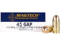Magtech Sport Ammunition 45 GAP 230 Grain Full Metal Jacket Box of 50