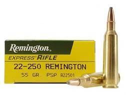 Remington Express Ammunition 22-250 Remington 55 Grain Pointed Soft Point Box of 20
