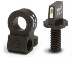 XS Tactical Night Sight Set AR-15 Steel Matte Tritium Bar Front, Tritium Ghost Ring Rear