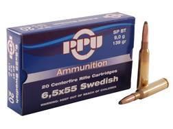 Prvi Partizan Ammunition 6.5x55mm Swedish Mauser 139 Grain Soft Point Box of 20