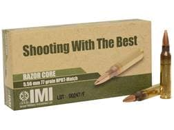 IMI Ammunition 5.56x45mm 77 Grain Razor Core (Sierra MatchKing Hollow Point)