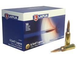 Lapua Scenar-L Ammunition 6.5x47 Lapua 120 Grain Hollow Point Boat Tail Box of 50