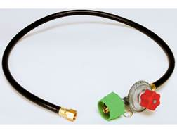 King Kooker High Pressure Adjustable Gas Regulator with Female Flare Swivel