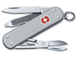 Victorinox Swiss Army Classic SD Folding Pocket Knife 5 Function Stainless Steel Blade Ribbed Alo...