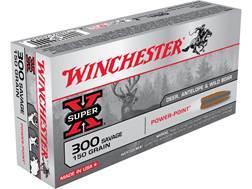 Winchester Super-X Ammunition 300 Savage 150 Grain Power-Point