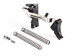 ZEV Technologies Fulcrum Drop-In Trigger Kit Glock 20, 29 (Not SF Frame) Aluminum Black Pad, Red ...