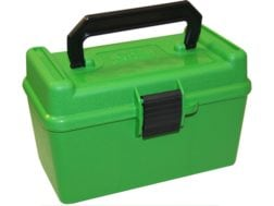 MTM Deluxe Flip-Top Ammo Box with Handle 378 Weatherby Magnum to 500 Nitro Express 50-Round Plast...