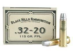Black Hills Cowboy Action Ammunition 32-20 WCF 115 Grain Lead Flat Nose Box of 50
