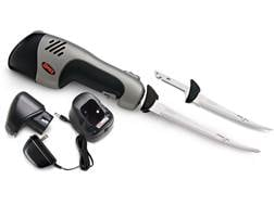"""Rapala Rechargeable Cordless Electric Fillet Knife Set 6"""" and 7.5"""" Reciprocating Stainless Steel ..."""