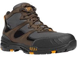 "Danner Springfield 4.5"" Waterproof Non-Metallic Safety Toe Work Boots Leather/Nylon Brown/Orange ..."