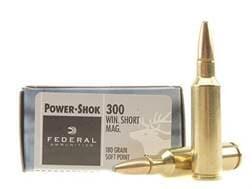Federal Power-Shok Ammunition 300 Winchester Short Magnum (WSM) 180 Grain Soft Point Box of 20