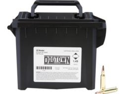 Dogtown Ammunition 22 Nosler 55 Grain Tipped Flat Base Ammo Can of 200