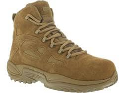 """Reebok Rapid Response RB 6"""" Composite Safety Toe Side-Zip Tactical Boots Leather/Nylon Men's"""