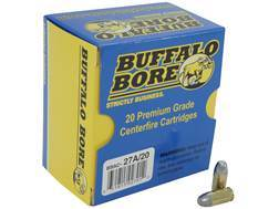 Buffalo Bore Ammunition 380 ACP +P 100 Grain Lead Flat Nose Box of 20