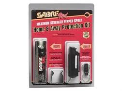 Sabre Red Home and Away Kit Pepper Spray includes Mark 3 and Key Carry 10% Units Black