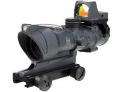 Trijicon ACOG Rifle Scope 4x 32mm Dual-Illuminated Red Chevron 223 Remington Reticle with 3.25 MO...