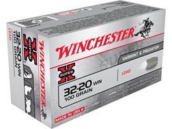 Winchester Super-X Ammunition 32-20 WCF 100 Grain Lead Flat Nose