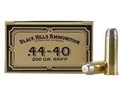 Black Hills Cowboy Action Ammunition 44-40 WCF 200 Grain Lead Flat Nose Box of 50
