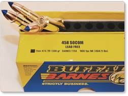 Buffalo Bore Ammunition 458 SOCOM 300 Grain Barnes TTSX Polymer Tipped Spitzer Lead-Free Box of 20