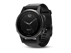 Garmin Fenix 5s GPS Watch with Silicone Band Black