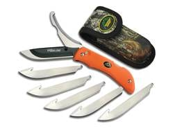 """Outdoor Edge Razor-Pro Folding Hunting Knife 3.5"""" Drop Point 420 Stainless Steel Blade Kraton Handle"""