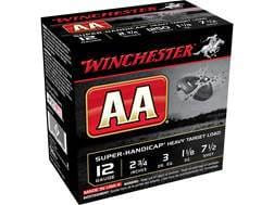 "Winchester AA Super-Handicap Heavy Target Ammunition 12 Gauge 2-3/4"" 1-1/8 oz #7-1/2 Shot"
