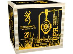 Browning BPR Ammunition 22 Long Rifle 40 Grain Black Plated Lead Round Nose Wood Box of 400