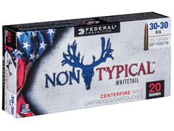 Federal Non-Typical Ammunition 30-30 Winchester 150 Grain Soft Point Flat Nose