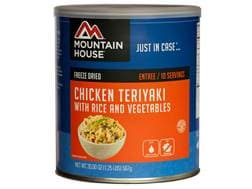 Mountain House 10 Serving Chicken Teriyaki with Rice Freeze Dried Food #10 Can