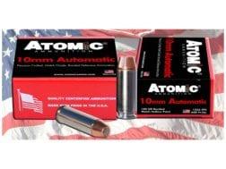 Atomic Ammunition 10mm Auto 180 Grain Bonded Match Hollow Point Box of 50