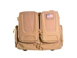G.P.S. Tactical Rolling Handgunner Backpack Range Bag Nylon Tan