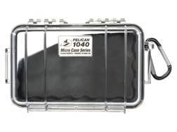 """Pelican 1040 Accessories Case with Liner 7-1/2"""" x 5"""" x 2"""" Polymer Black"""