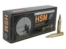 HSM Varmint Gold Ammunition 204 Ruger 35 Grain Berger Varmint Hollow Point Flat Base Box of 20