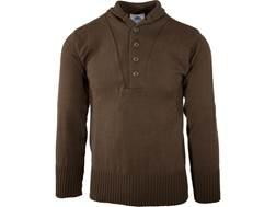 Military Surplus 5 Button Sweater Grade 1 Acrylic Brown Medium