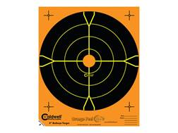 """Caldwell Orange Peel Targets 8"""" Self-Adhesive Bullseye Pack of 25 Factory Second"""