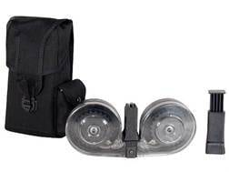 Beta C-Mag Magazine System AR-15 9mm Luger 100-Round Drum Polymer Black with Clear Back Cover