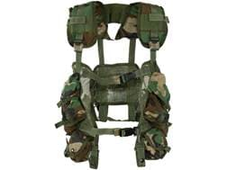 Military Surplus ALICE Load Bearing Vest (LBV) Nylon Woodland Camouflage