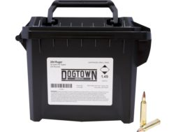 Dogtown Ammunition 204 Ruger 32 Grain Tipped Flat Base Ammo Can of 200
