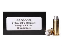 DoubleTap Ammunition 44 Special 240 Grain Hard Cast Lead Semi-Wadcutter Box of 50