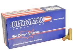 Ultramax Remanufactured Ammunition 38 Special 148 Grain Plated Lead Match Hollow Base Wadcutter B...
