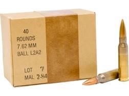 Military Surplus Malaysian Ammunition 7.62x51mm 146 Grain Full Metal Jacket Berdan Primed