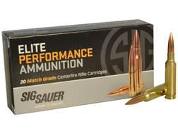 Sig Sauer Elite Performance Match Grade Ammunition 6.5 Creedmoor 140 Grain Open Tip Match Box of 20