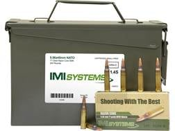 IMI Ammunition 5.56x45mm 77 Grain Razor Core (Sierra MatchKing Hollow Point) Ammo Can of 240 (12 ...
