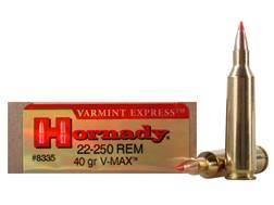 Hornady Varmint Express Ammunition 22-250 Remington 40 Grain V-MAX Box of 20