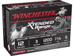 "Winchester Xtended Range Bismuth Ammunition 12 Gauge 3"" 1-5/8"" #5 Non-Toxic Shot"