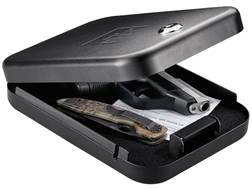 GunVault NanoVault 100 Pistol Safe with Key Lock Black