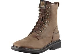"""Ariat Cascade 8"""" Wide Square Toe Work Boots Leather Alamo Brown Men's"""